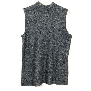 Dana Buchman Sleeveless Mock Turtleneck Sweater
